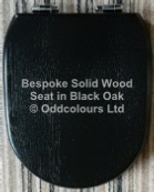 Black-Gloss Solid Oak Bespoke Seat