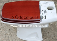 Selles Cheverny CC Pan with Mahogany-effect resin replica seat