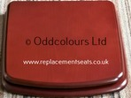 Resin Replica Seat for Roca Sydney - Mahogany-effect finish